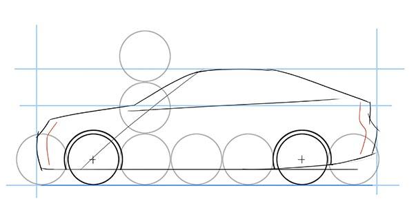dibujar coche lateral